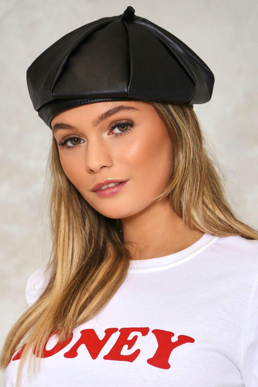 Marais Faux Leather Beret  75133cb5dda