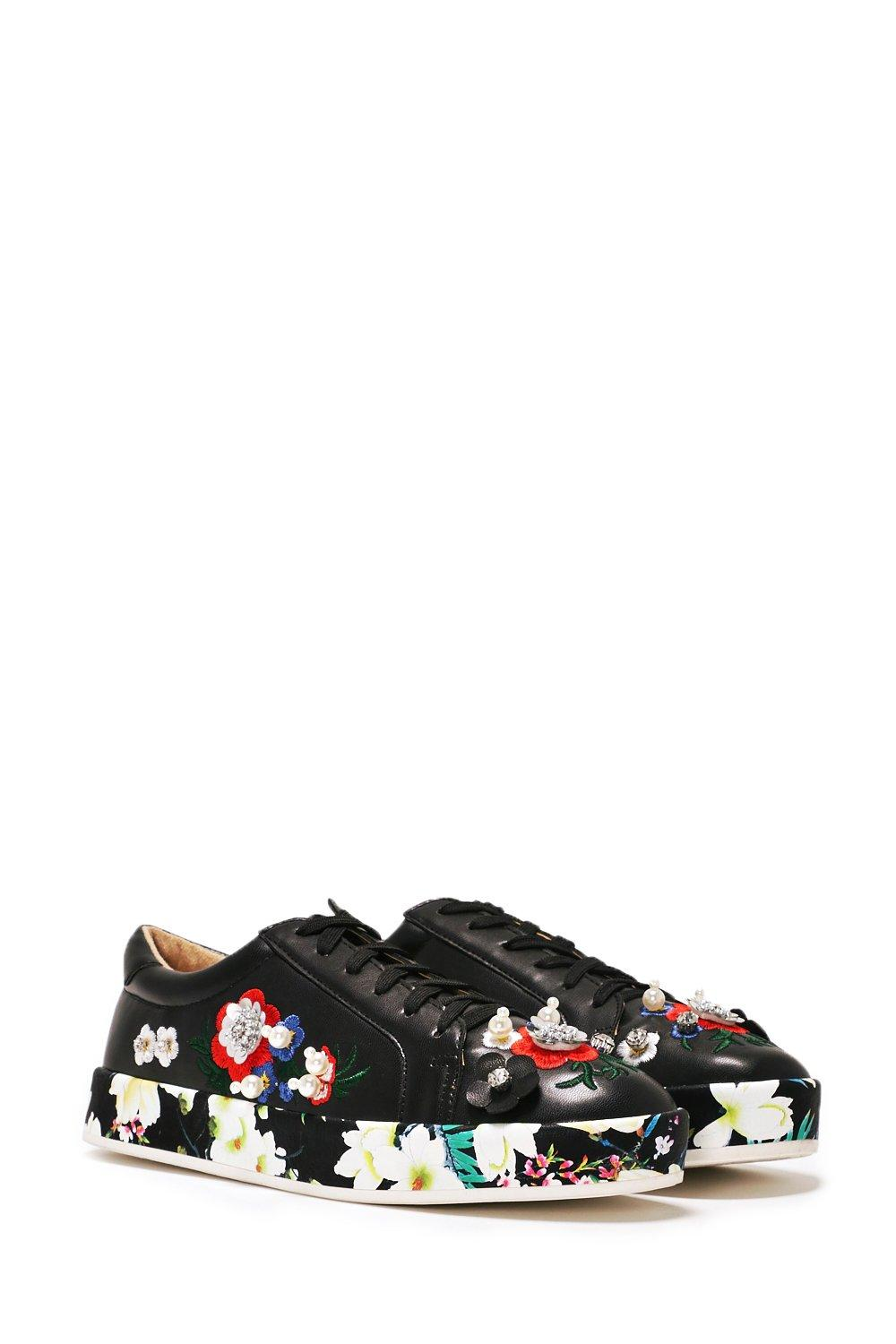 249ac0d23b3 She Said Bloom Embellished Sneaker