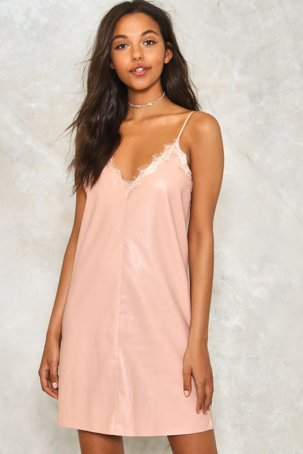 8b7dd52d4392 Take On Me Faux Leather Slip Dress | Shop Clothes at Nasty Gal!
