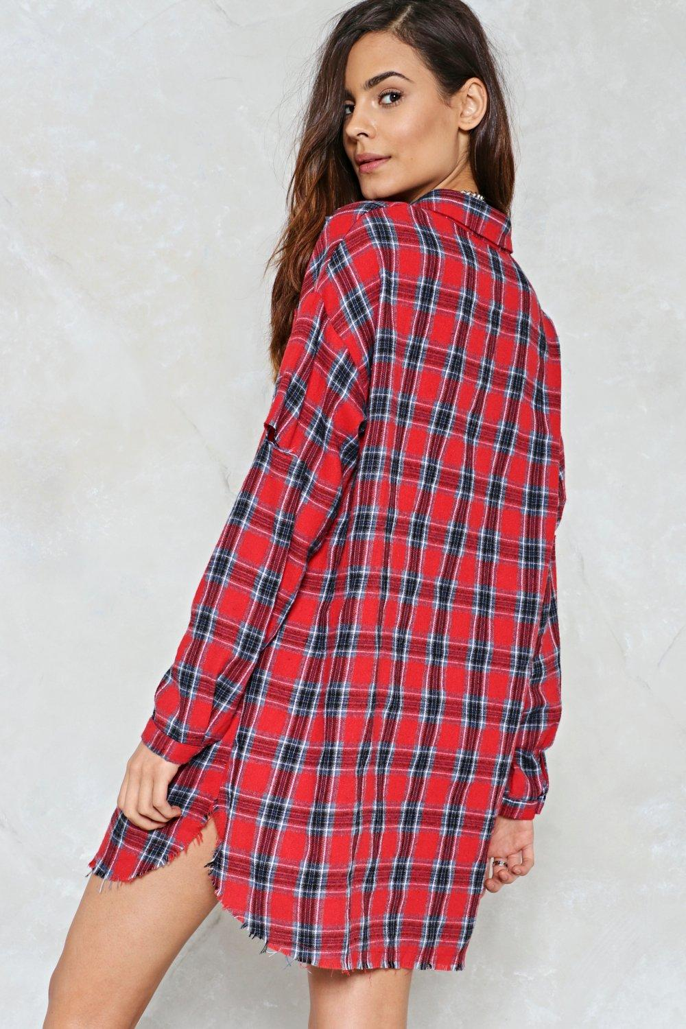27685a40b54e Ring Out the Best In Me Plaid Shirt Dress | Shop Clothes at Nasty Gal!