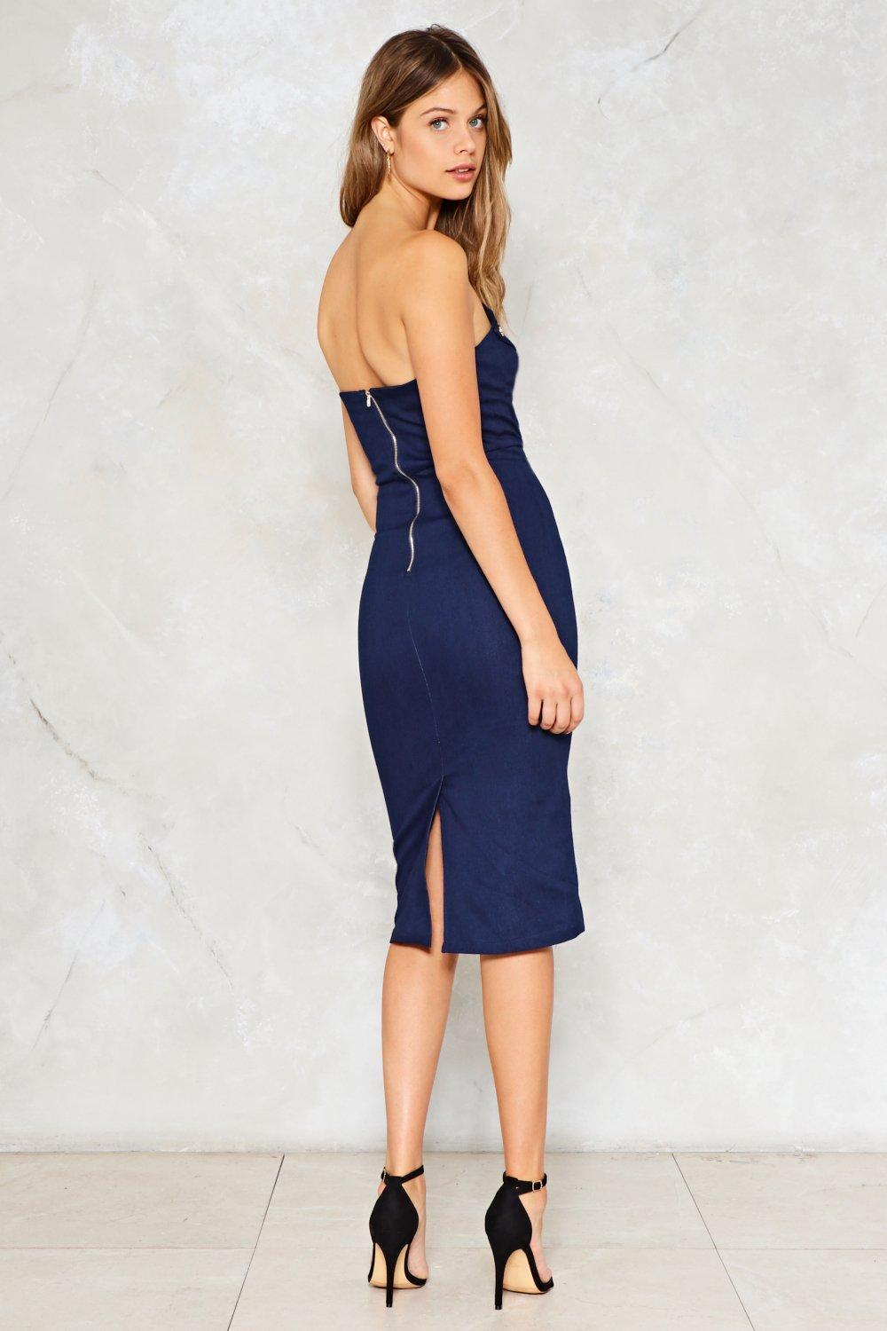 fc3dd2e8eef Make It Snappy Denim Dress. Hover to zoom