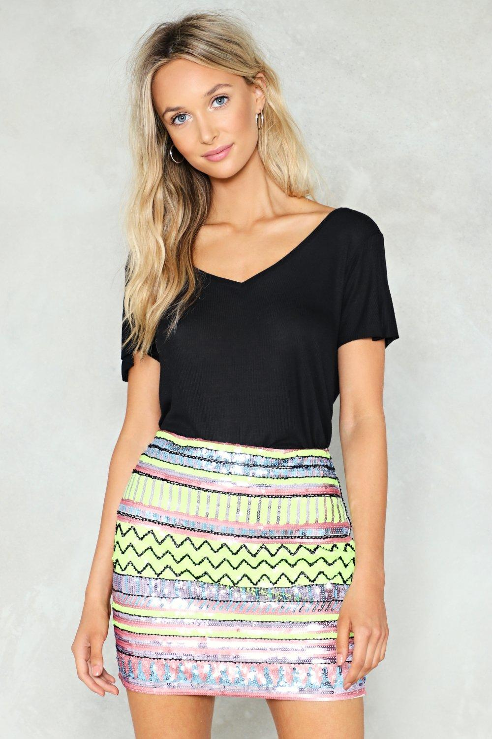 d89813ab5f Hey Bright Eyes Sequin Skirt | Shop Clothes at Nasty Gal!