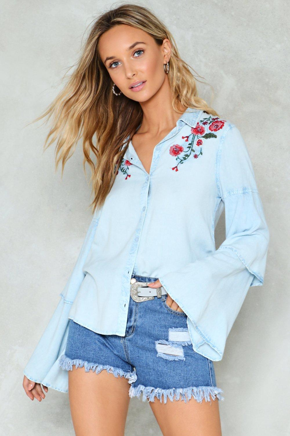4abfba2827e8 Get Outta Tier Embroidered Shirt | Shop Clothes at Nasty Gal!