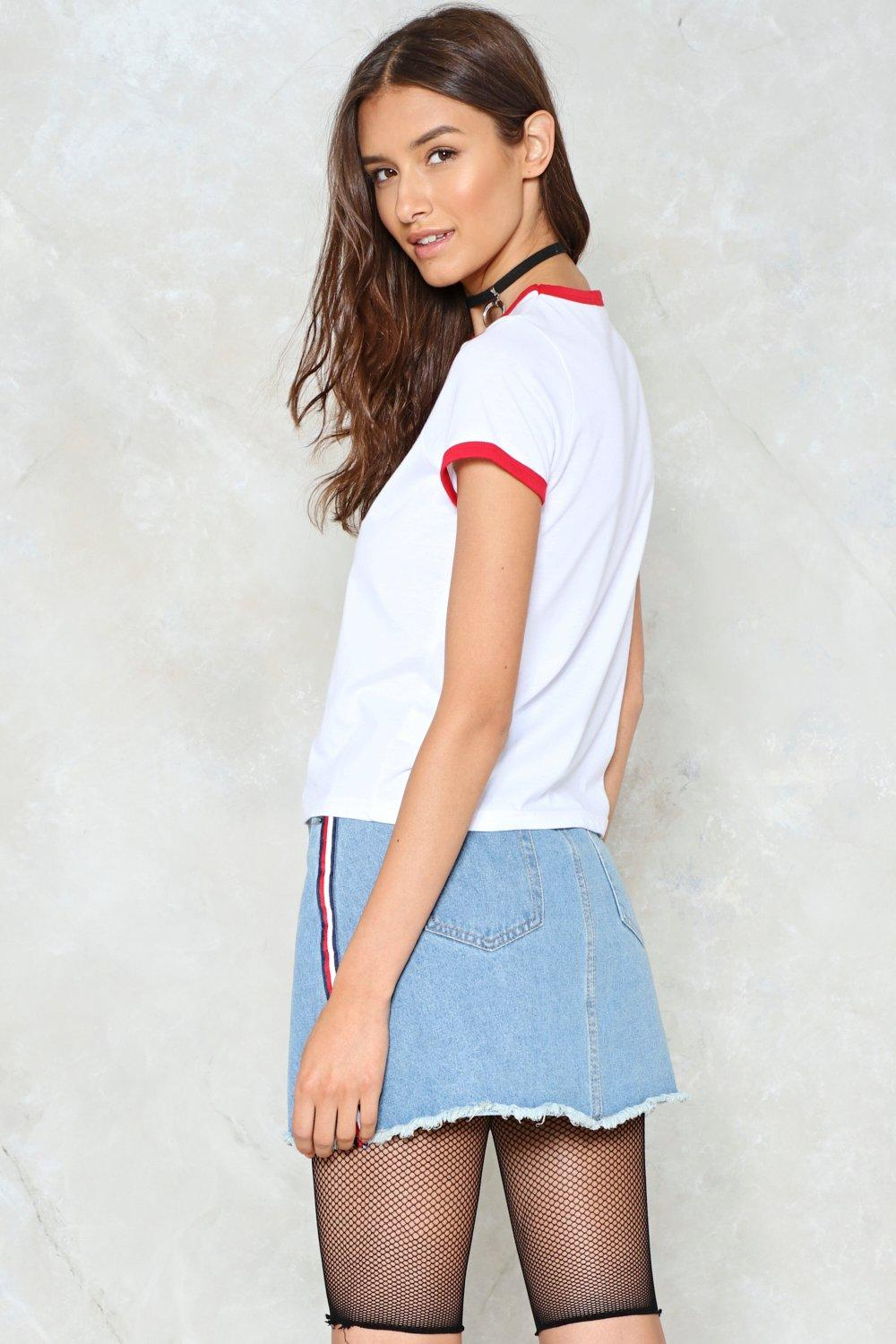9ca0154ce4 All Day And All of the Night Striped Denim Skirt | Shop Clothes at ...