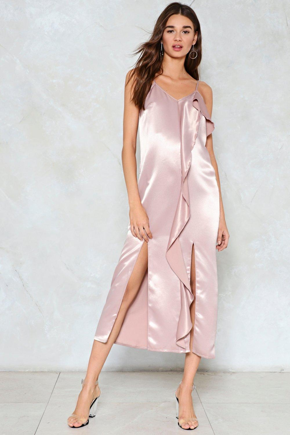 ad61e2971df Let Your Love Flow Satin Slip Dress