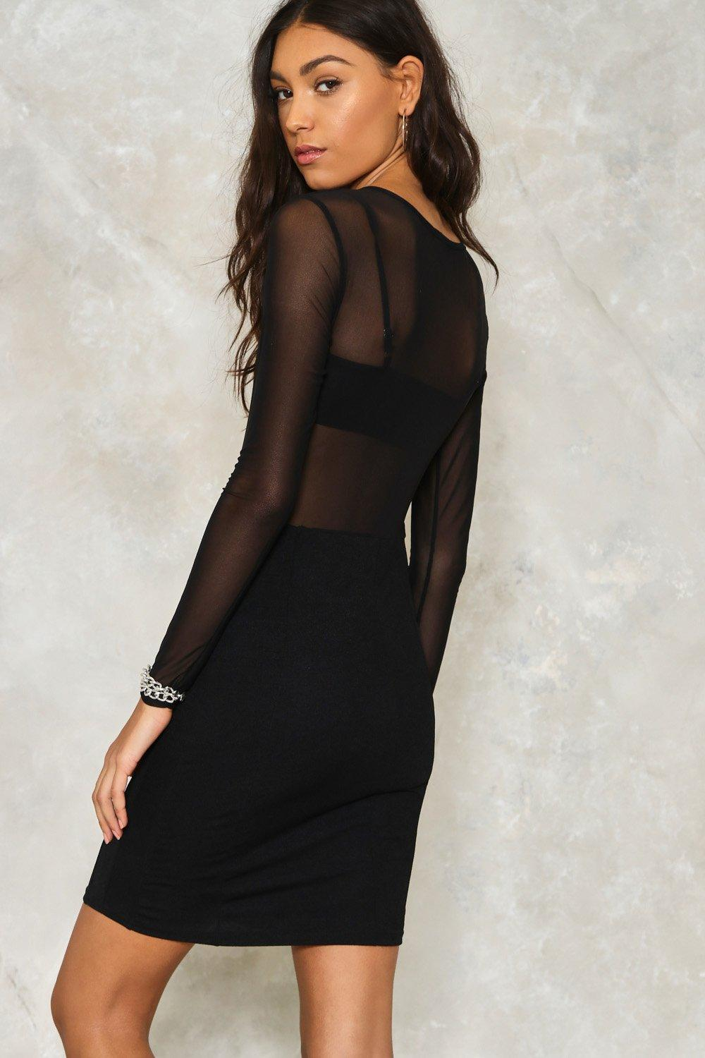 1f56f00f6 Womens Black I Mesh You Bodycon Dress. Hover to zoom