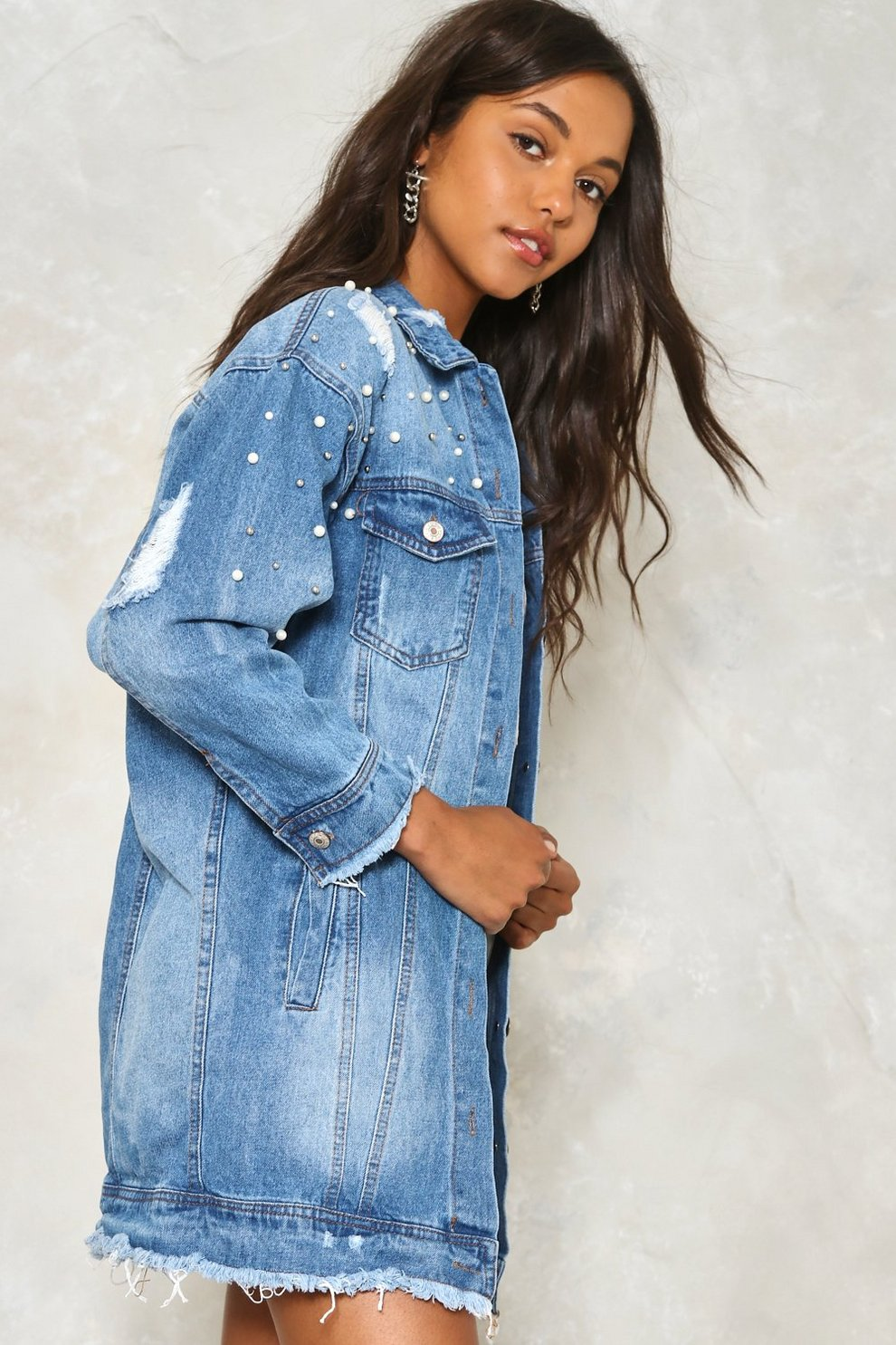 9dadf754b9d5 Run the World Pearl Denim Jacket | Shop Clothes at Nasty Gal!