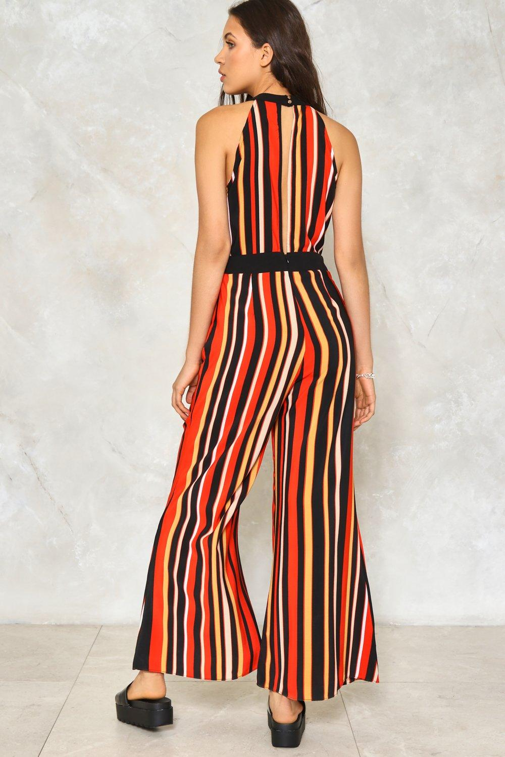 937310413c07 All The Stripe Moves Jumpsuit. Hover to zoom