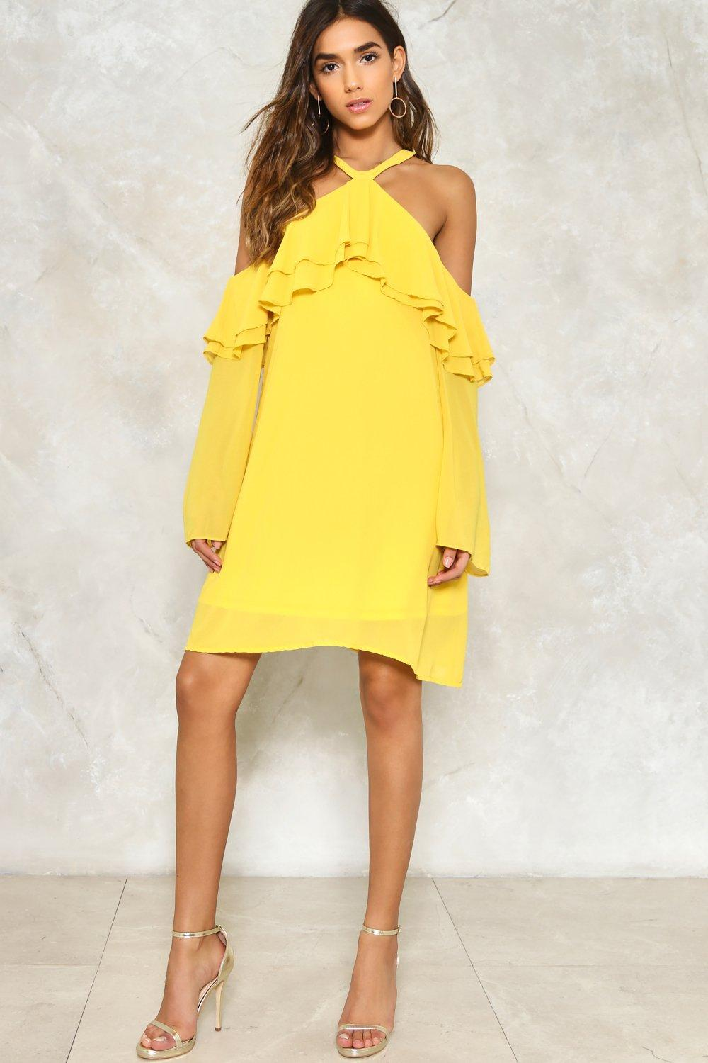 7ffc368c3922 Layer It On Me Cold Shoulder Dress | Shop Clothes at Nasty Gal!