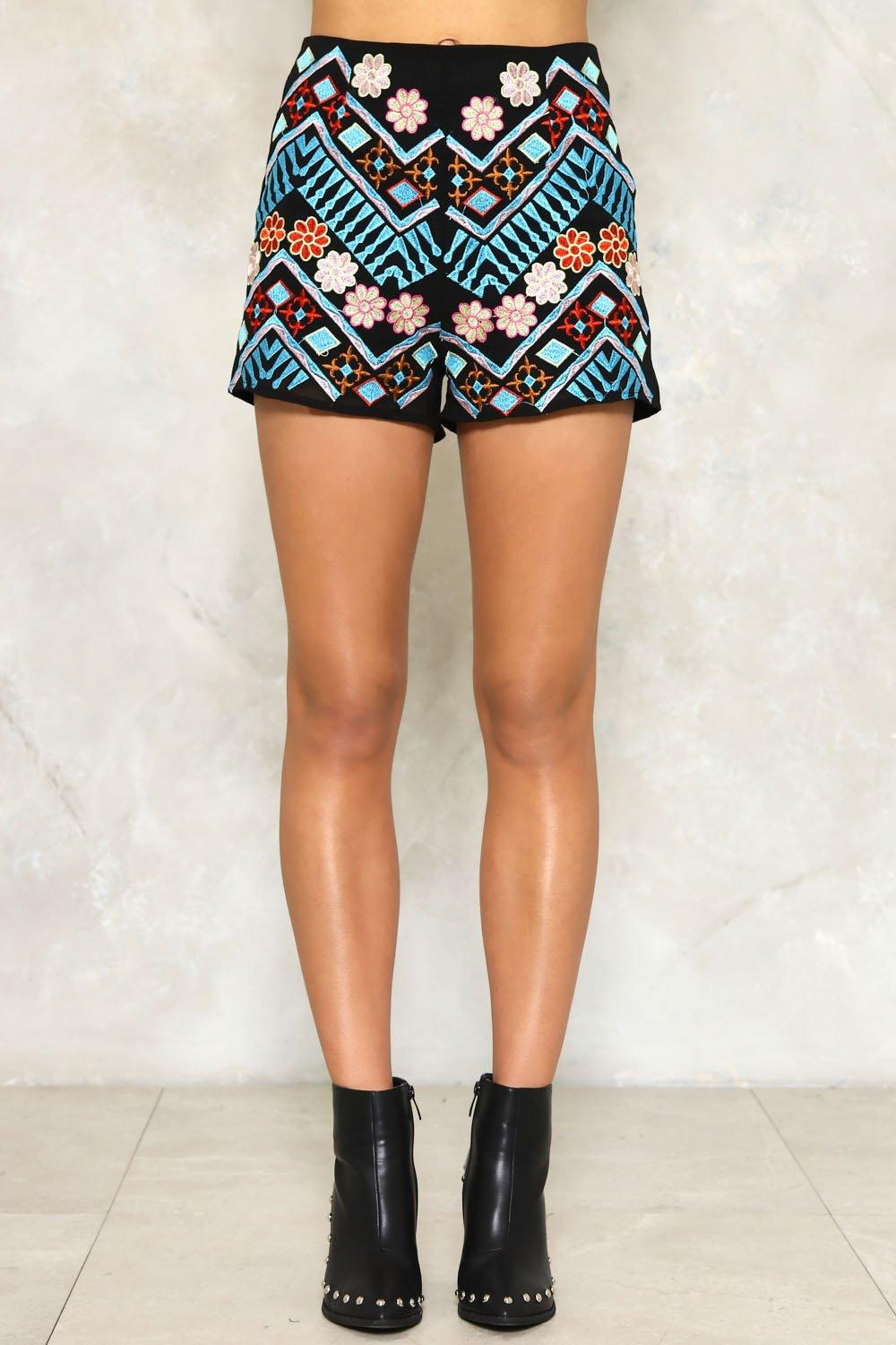 Josie Embroidered Shorts. Hover to zoom ea7d1992e2e8