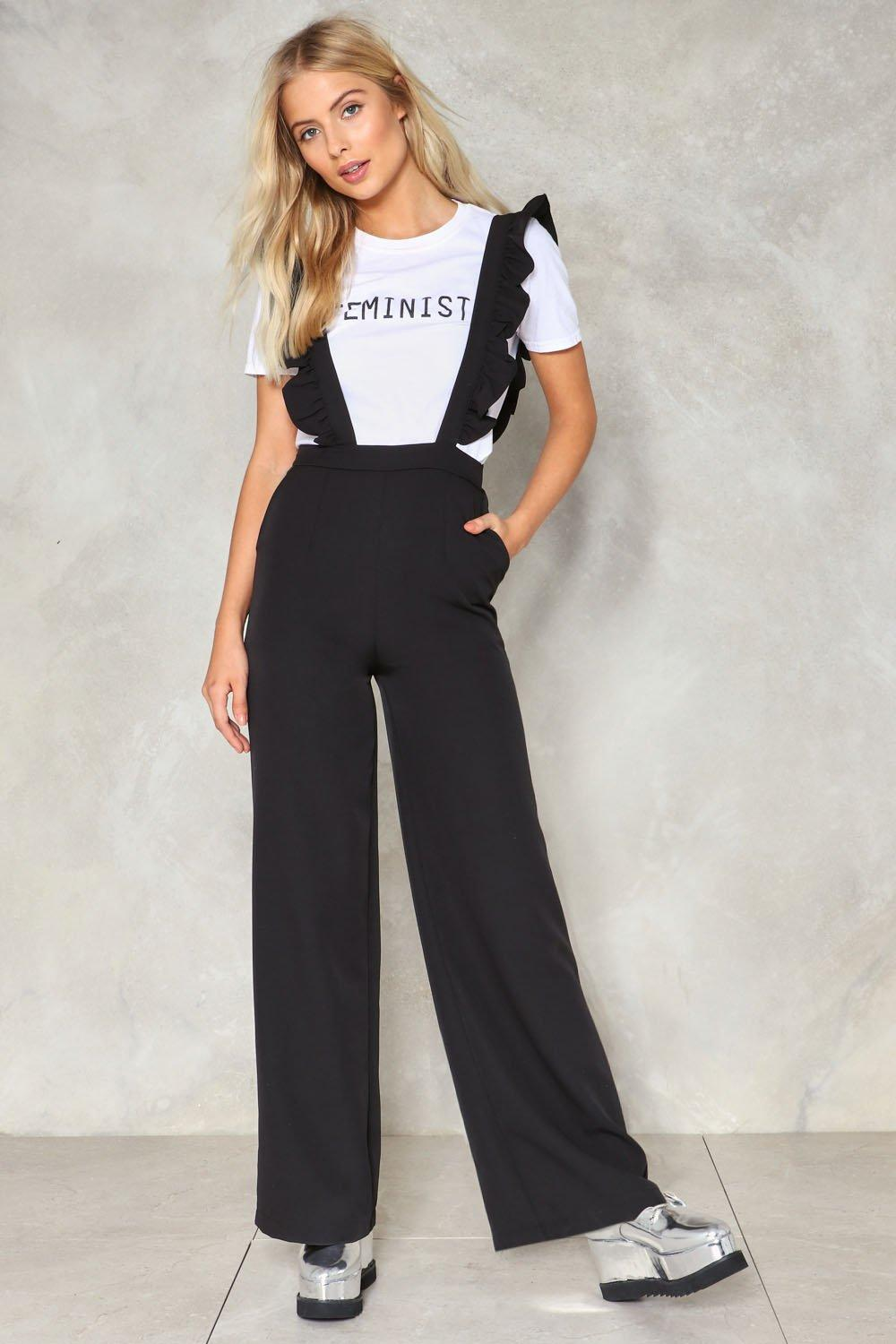 58d4382925 Lash Back Ruffle Jumpsuit. Hover to zoom