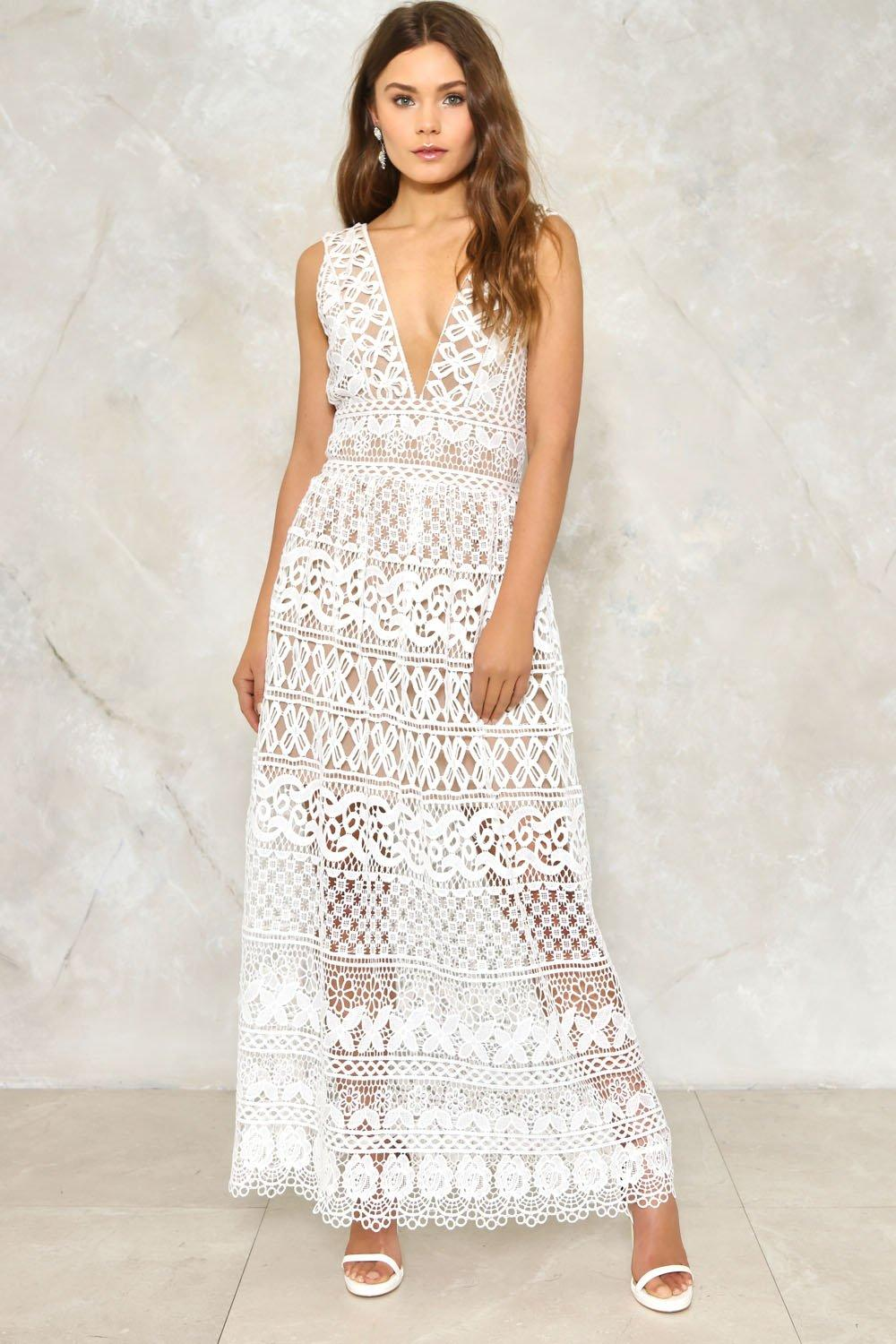 Isobel Crochet Dress Shop Clothes At Nasty Gal