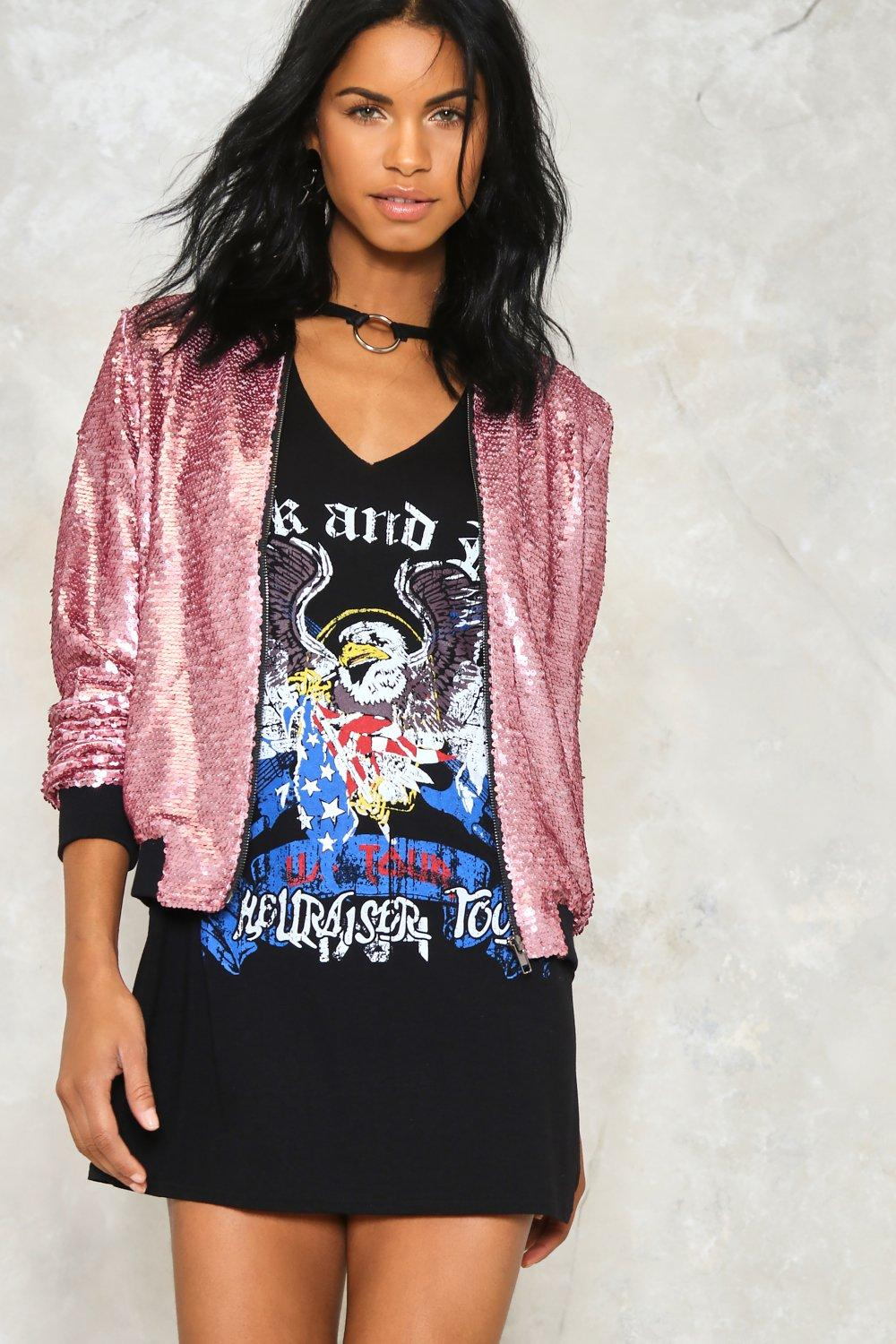 73cfe09dc The Show Must Go On Sequin Bomber Jacket | Shop Clothes at Nasty Gal!
