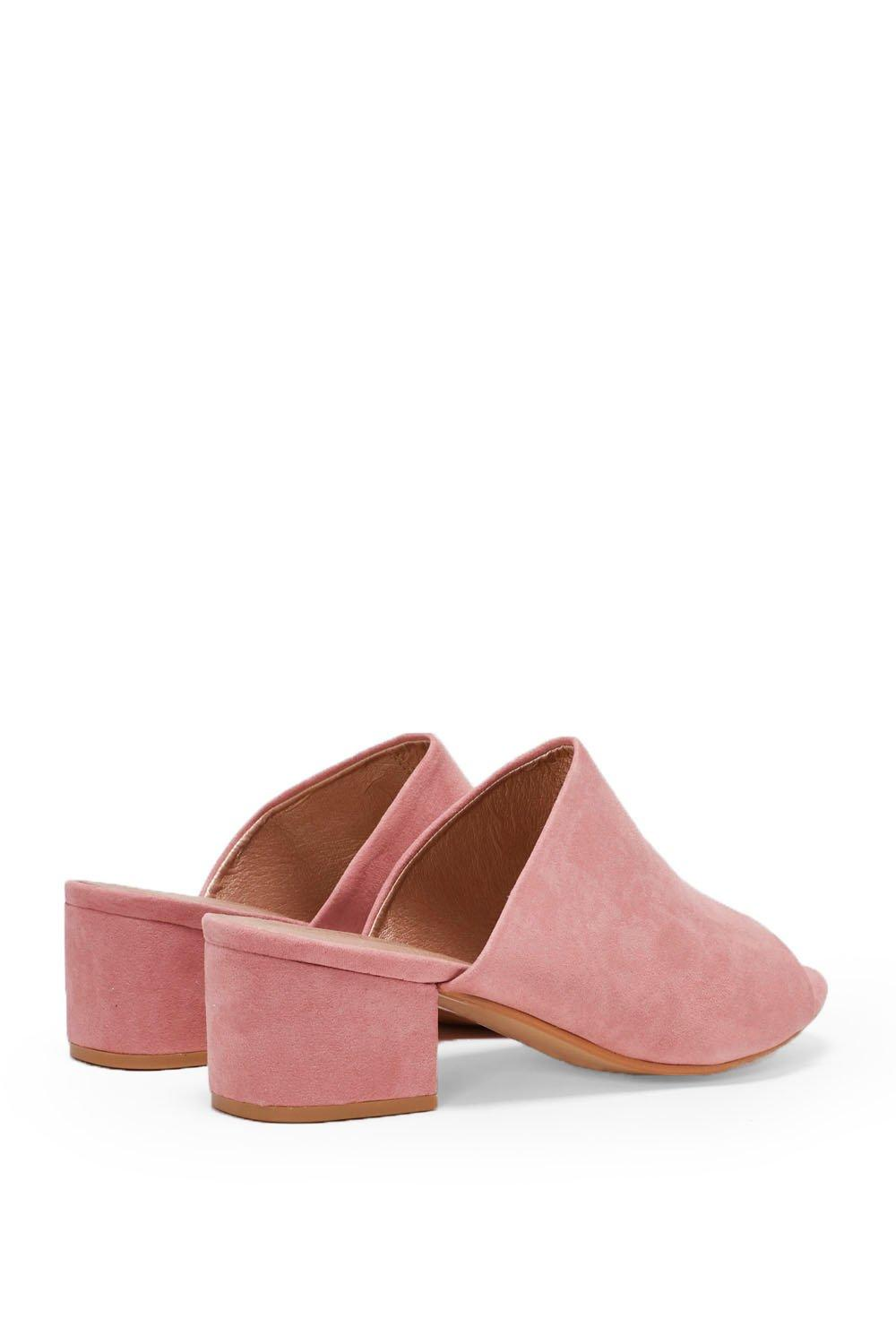 33aada60c Hover to zoom · Womens Pink Into the Groove Faux Suede Mule. Click to expand