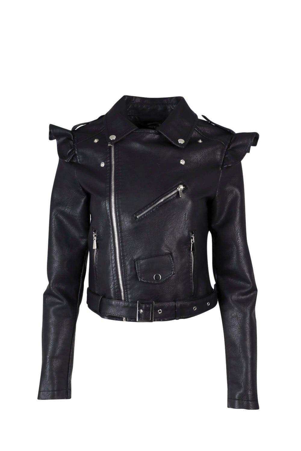 8b4860815f Elena Faux Leather Moto Jacket