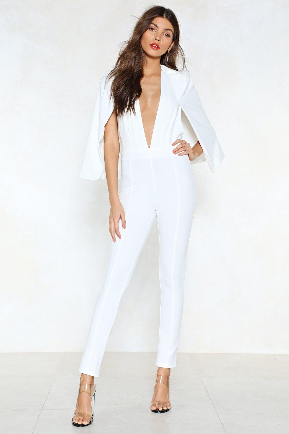 8f2207b0f9c2 Cape It Together Tailored Jumpsuit. Hover to zoom