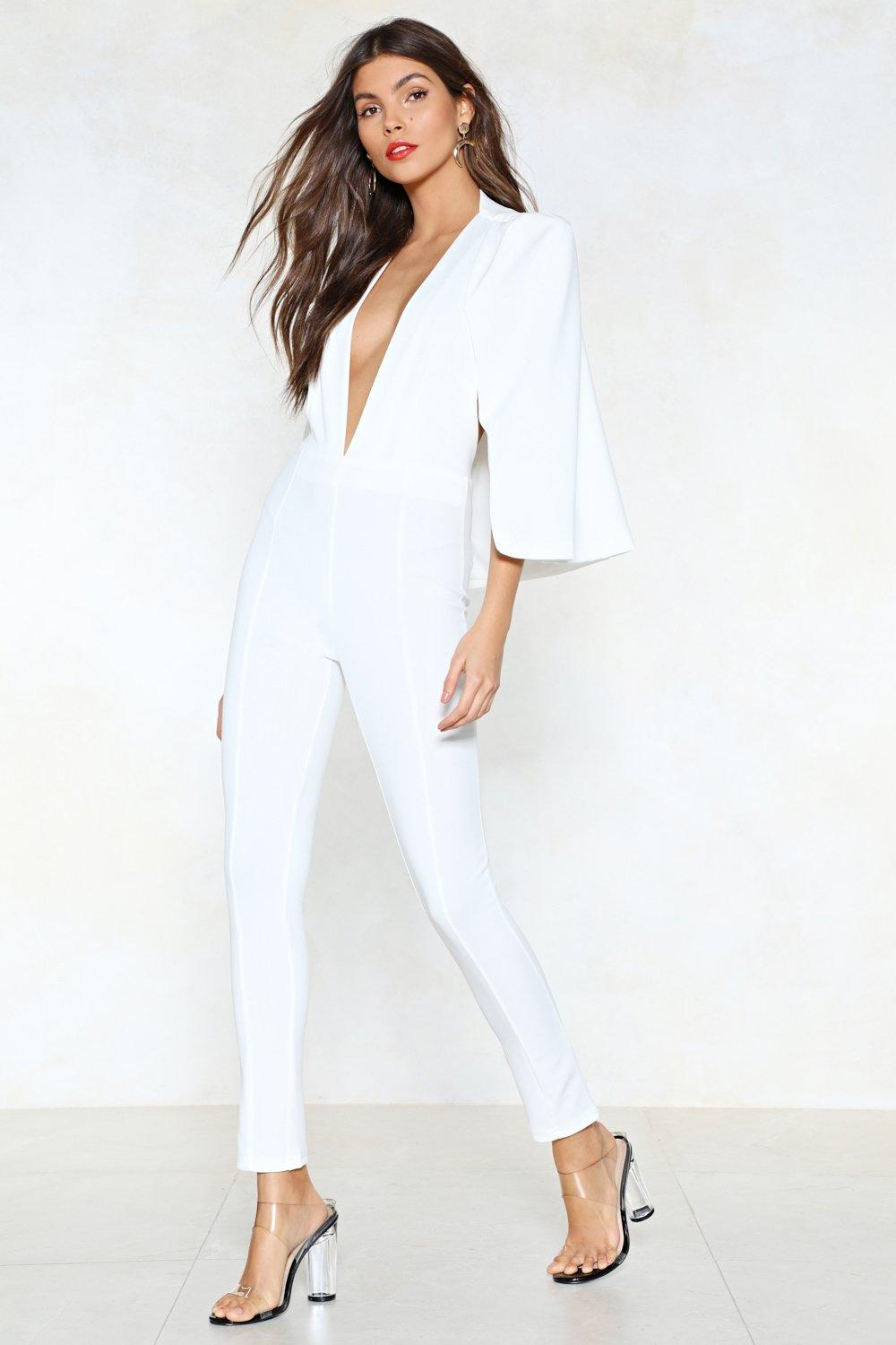 81f628d3d68f Cape It Together Tailored Jumpsuit. Hover to zoom