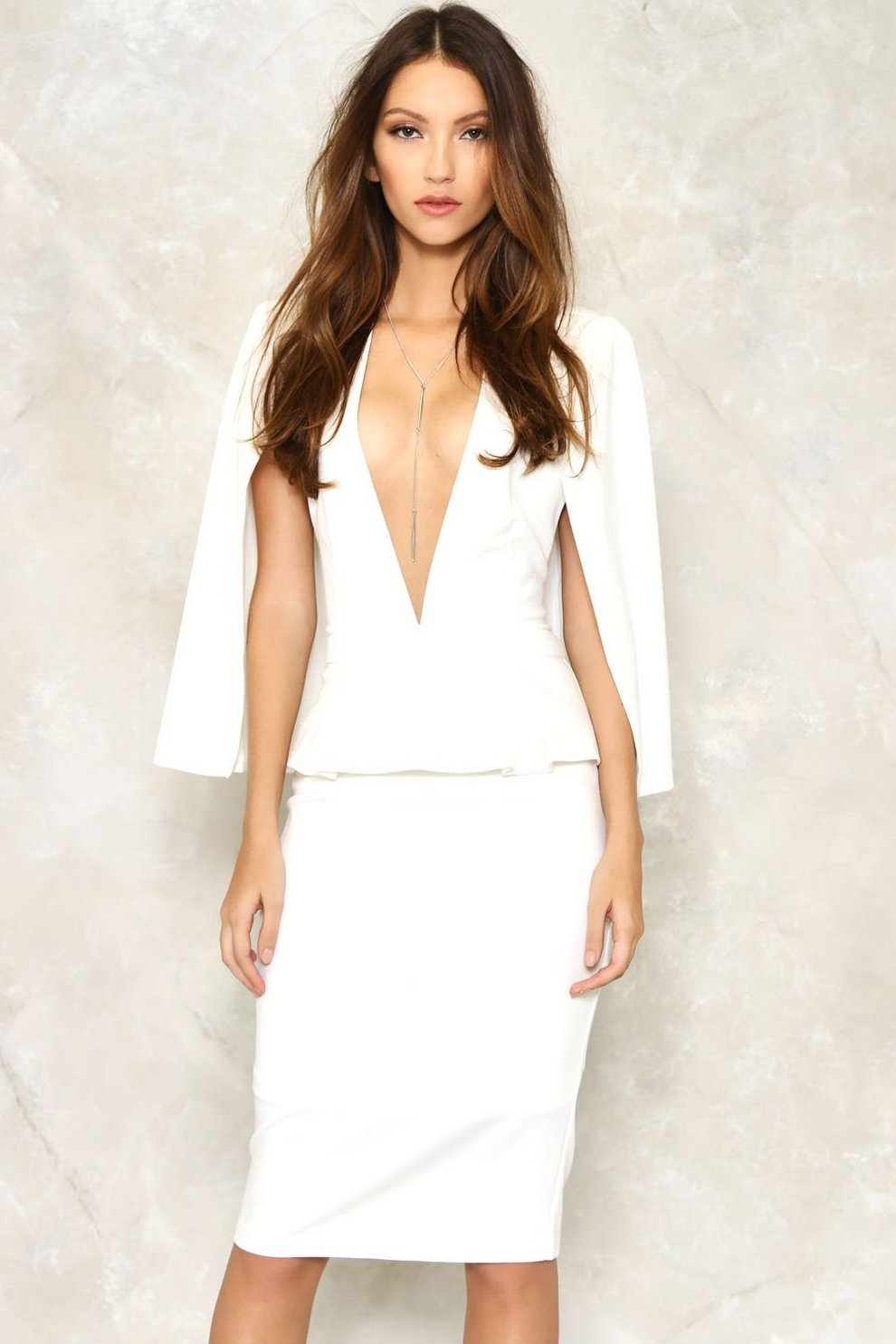 322233bcd5 Take the Plunge Cape Dress