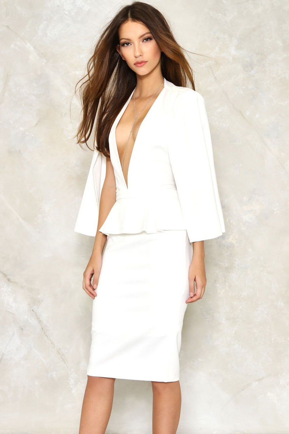 2496b42e6d Take the Plunge Cape Dress   Shop Clothes at Nasty Gal!