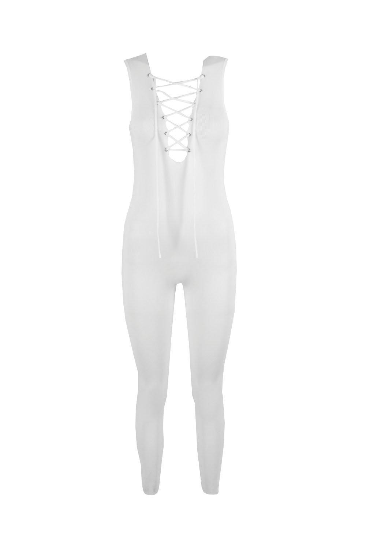 d3ff03854833 Lace Oddity Knit Jumpsuit