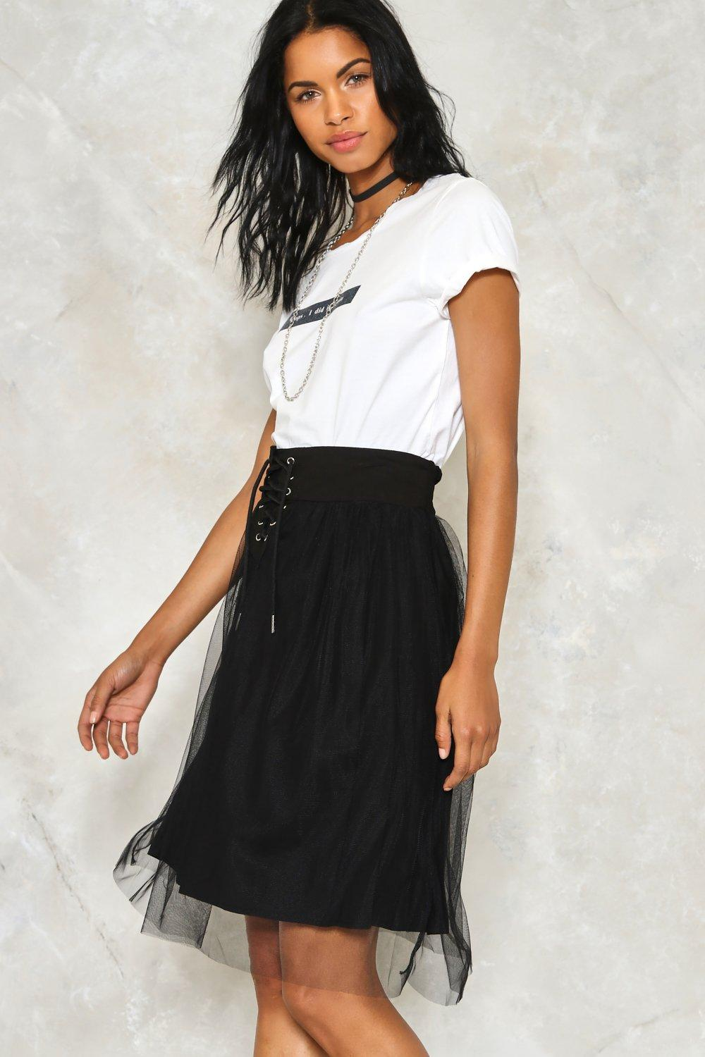 814ef591ecc7 Power Tulle Lace-Up Skirt | Shop Clothes at Nasty Gal!