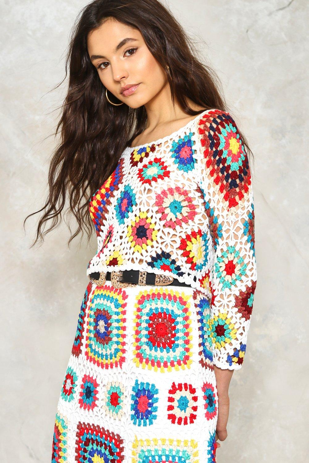 Seven Wonders Crochet Crop Top Shop Clothes At Nasty Gal