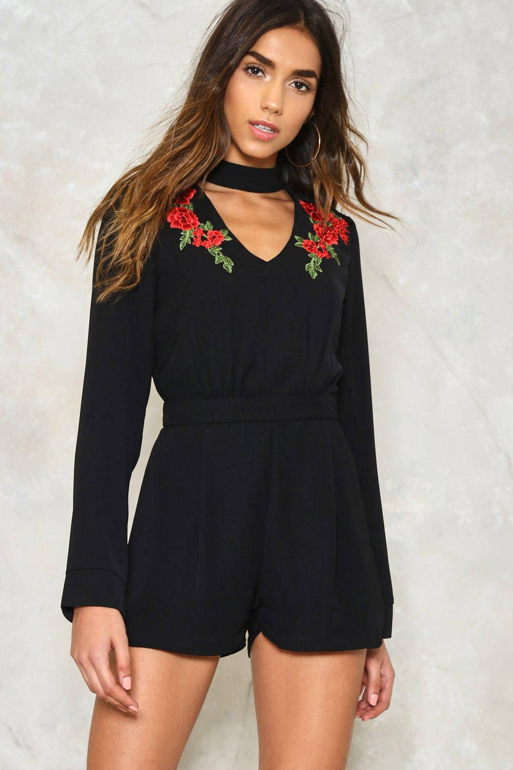 9ffba378cfb Rose to the Occasion Embroidered Romper