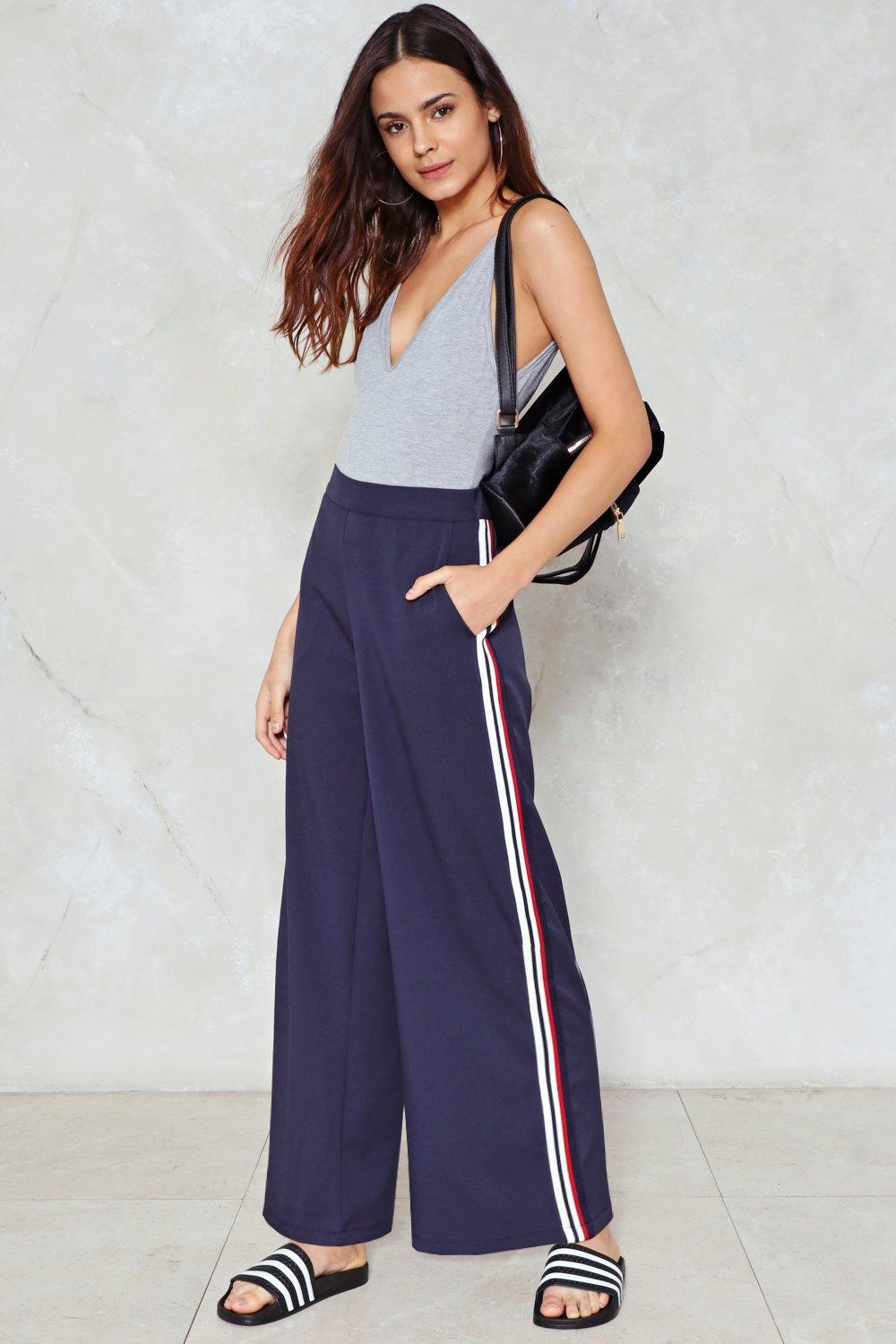 On Your Side Stripe Pants Shop Clothes At Nasty Gal