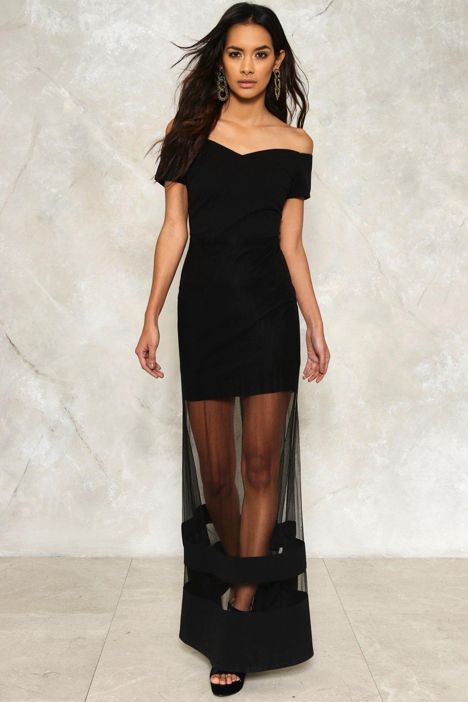 6791278bf96 Womens Black Nadia Off-the-Shoulder Maxi Dress