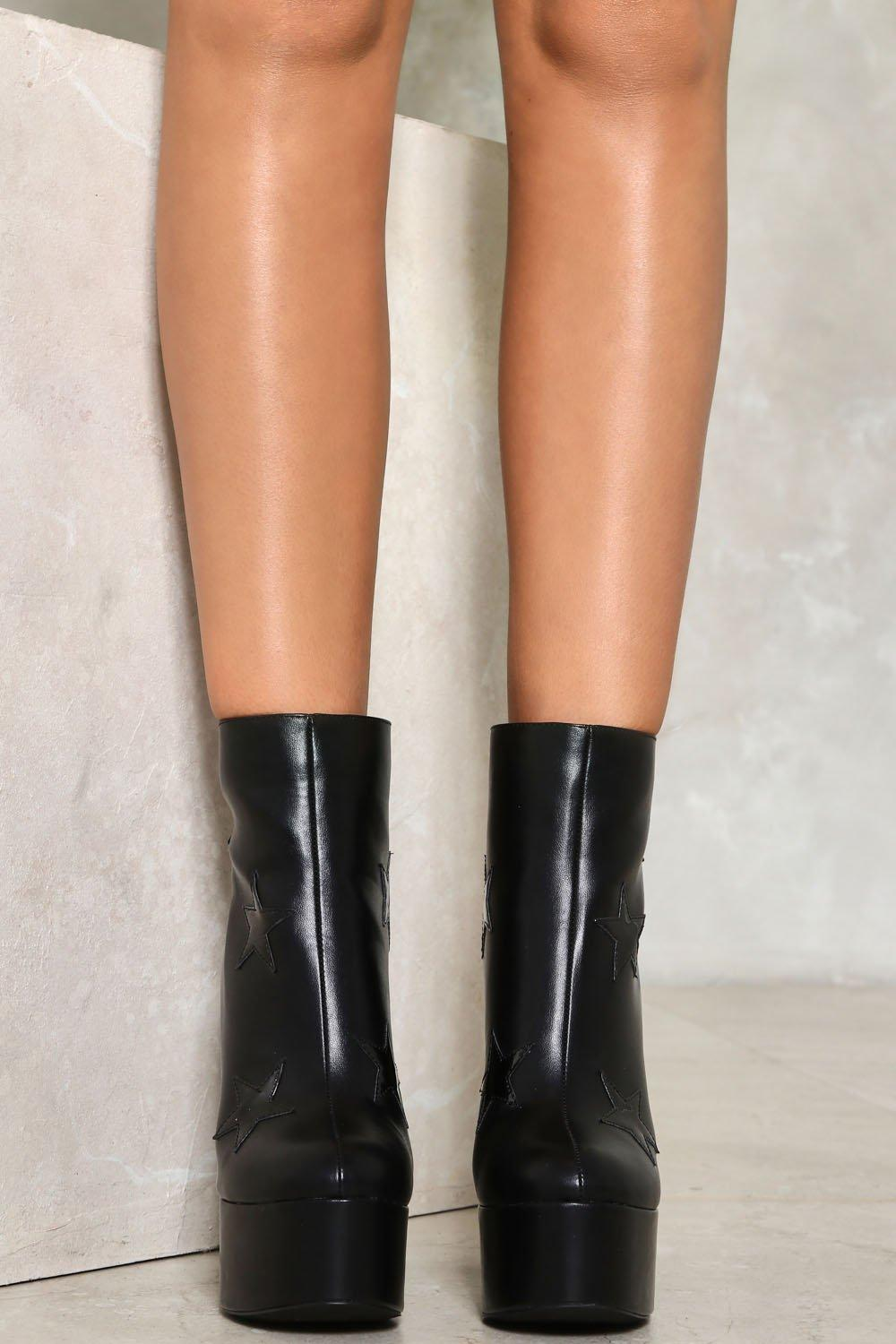 599b583f886 Reach For the Top Faux Leather Boot | Shop Clothes at Nasty Gal!