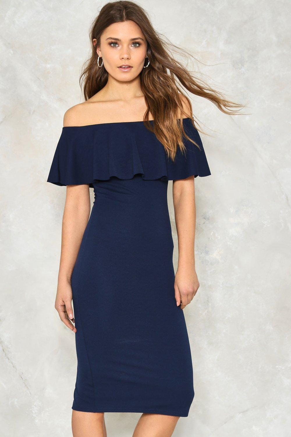 ebafd995f1cb Frilled to Pieces Off-the-Shoulder Dress | Shop Clothes at Nasty Gal!