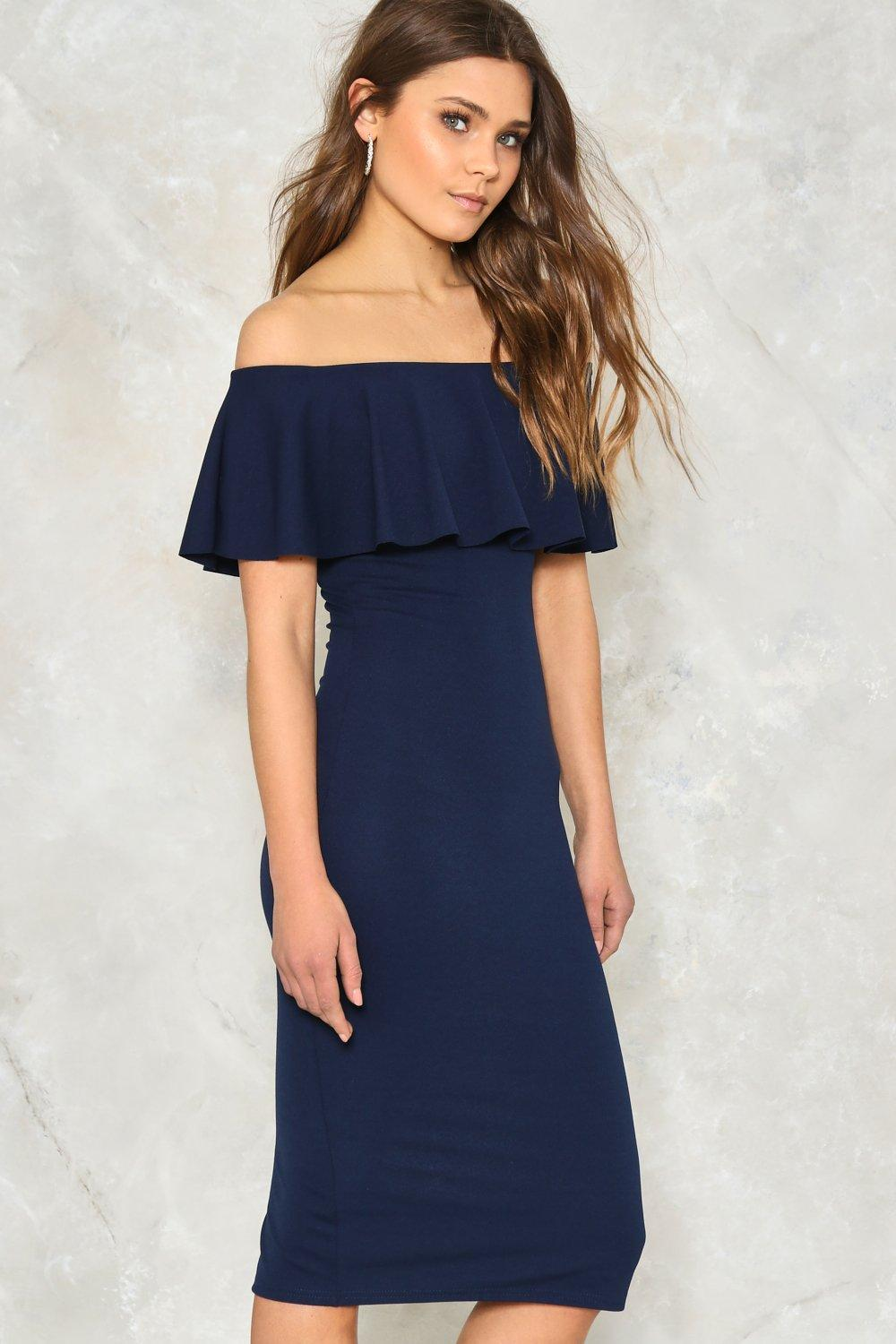 cc8f2f45b8ab Frilled to Pieces Off-the-Shoulder Dress | Shop Clothes at Nasty Gal!