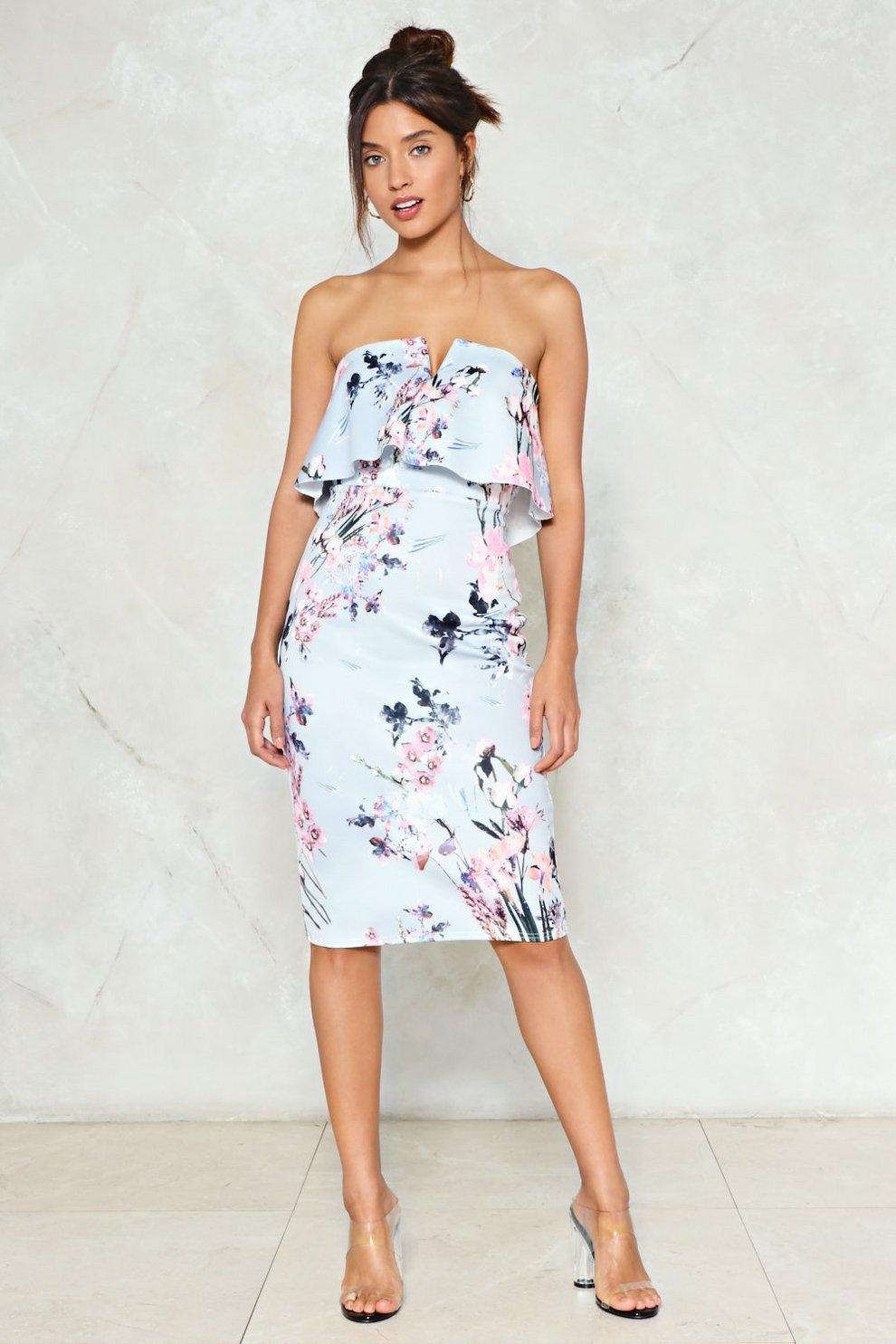 c799eb5265c94 Spring Affair Floral Midi Dress