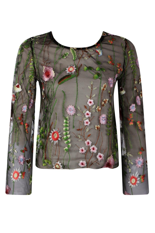 b088f1a1 Elsa Embroidered Mesh Top | Shop Clothes at Nasty Gal!