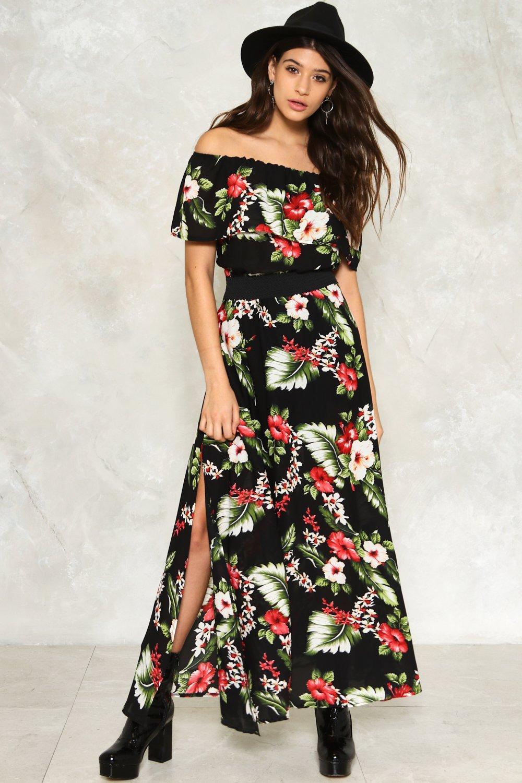 a79a8615c57 Womens Black Anna Floral Dress