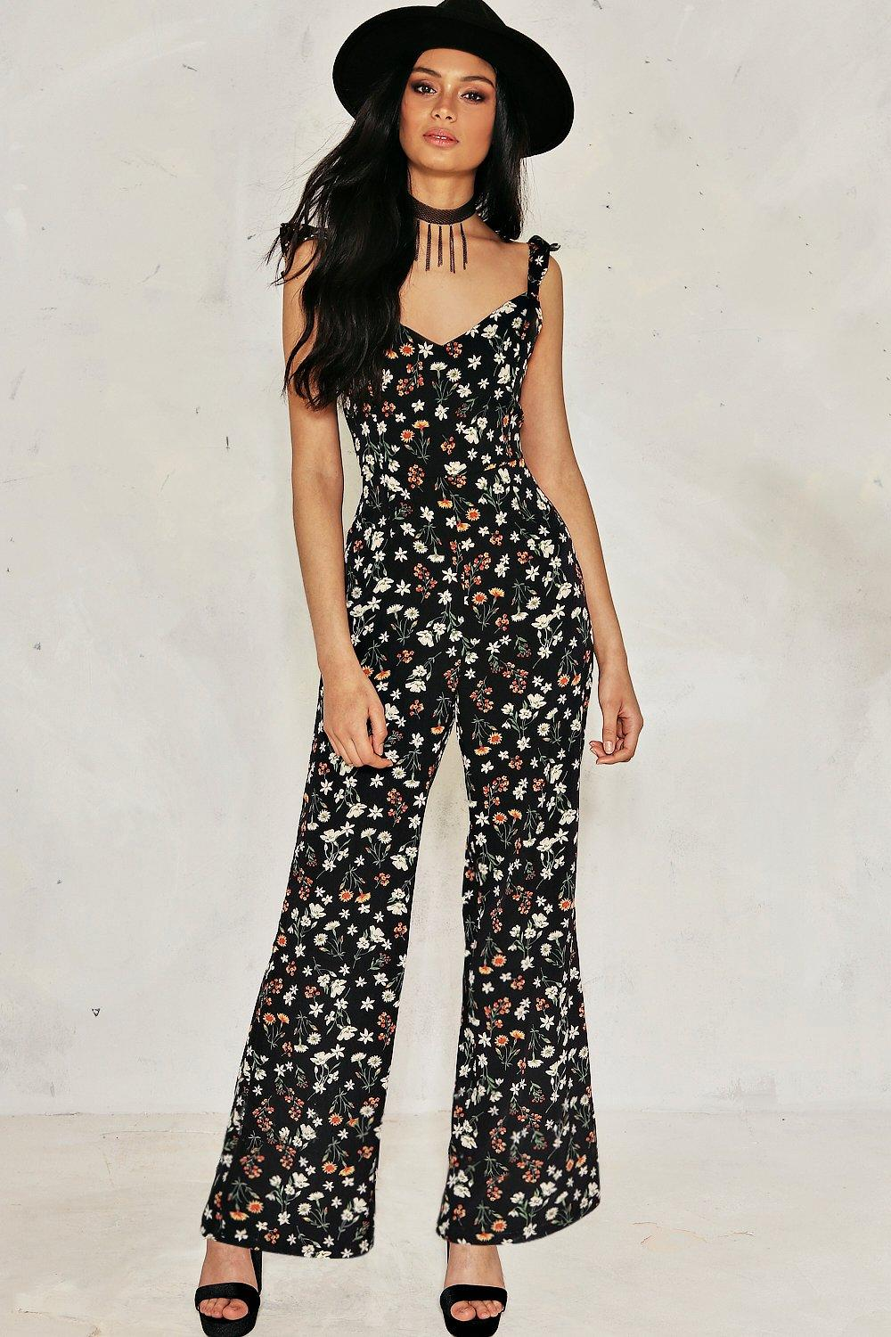 a7a646251df Field Day Floral Tie Back Jumpsuit