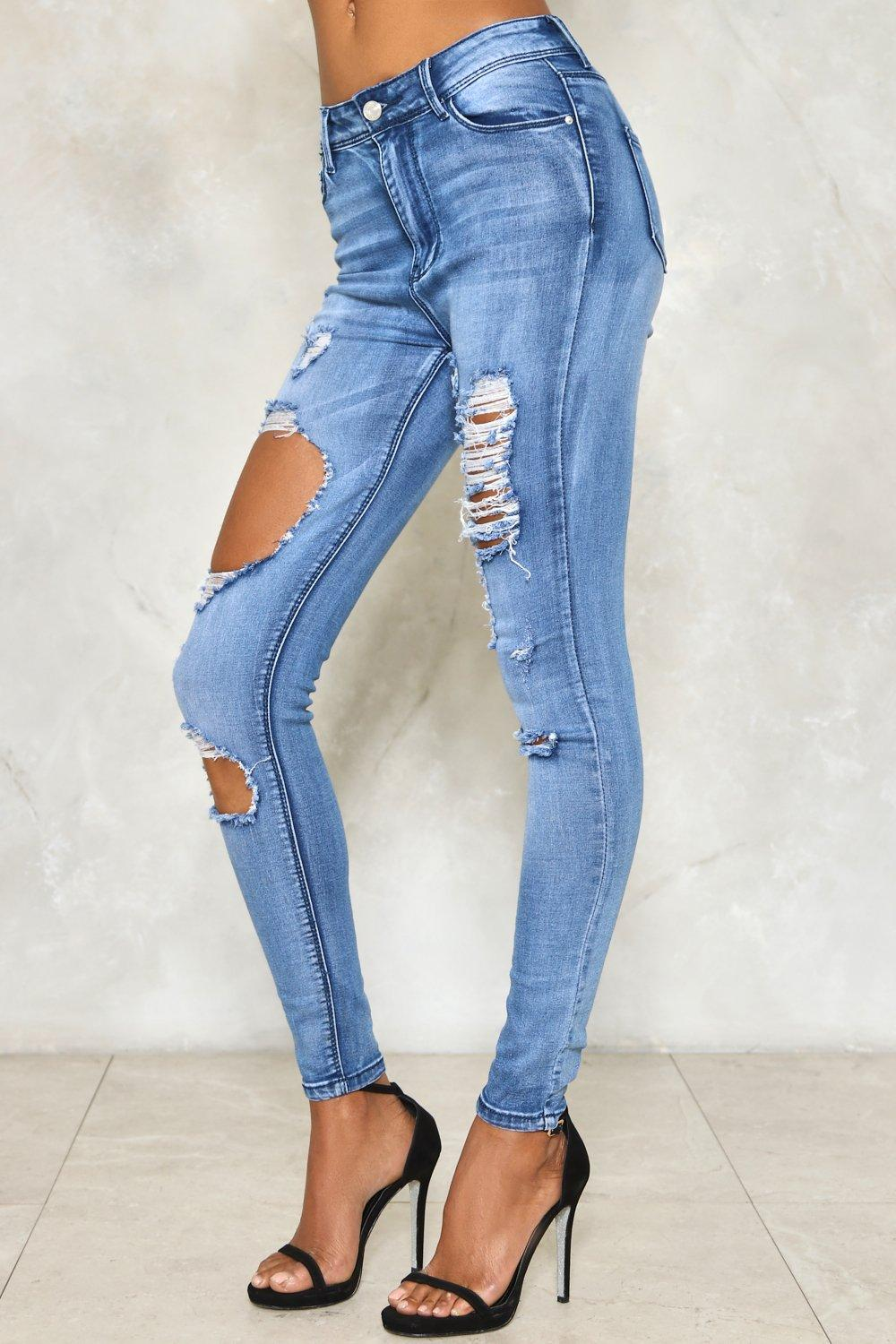 0266a4280a6 Ripped to Shreds Skinny Jeans | Shop Clothes at Nasty Gal!
