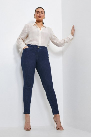 Indigo Curve Forever Cut Mid Rise Skinny Jean