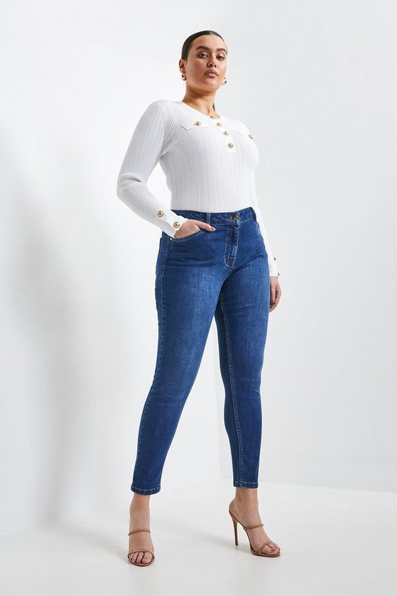 Mid wash Curve Organic Forever Cut Mid Rise Skinny Jean