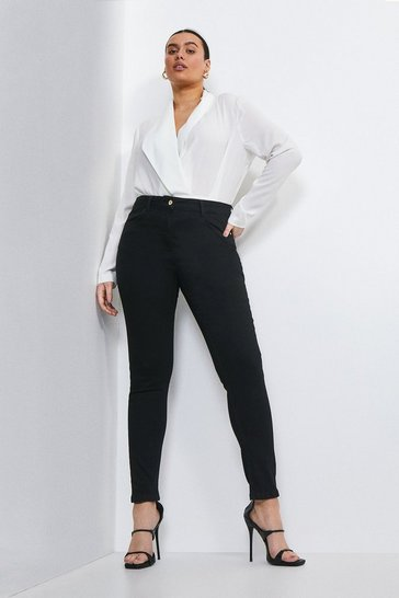 Black Curve Luxe Cut High Rise Skinny Jean