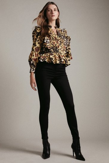 Black Luxe Cut High Rise Skinny Jean