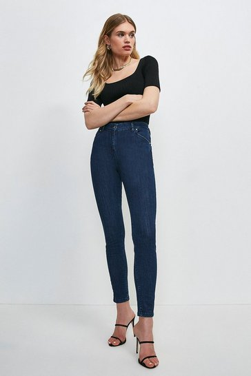 Indigo Forever Cut Mid Rise Skinny Jean