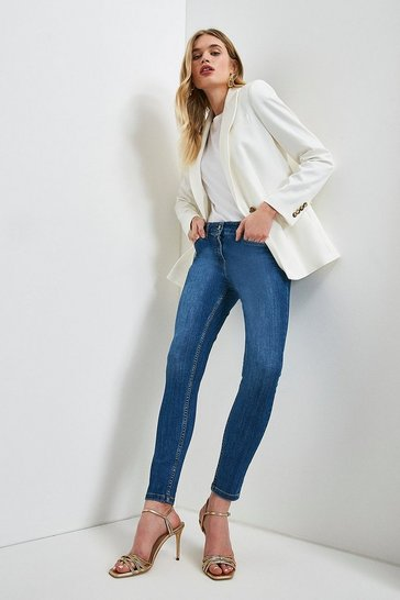 Mid wash Organic Forever Cut Mid Rise Skinny Jean