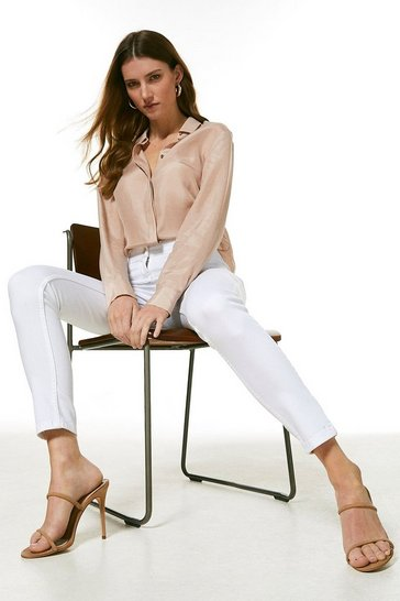 White Organic Forever Cut Mid Rise Skinny Jean