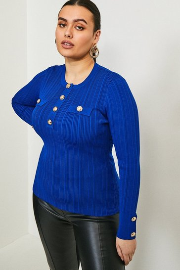 Cobalt Curve Military Jumper