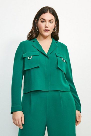 Green Curve Luxe Gold Trim Detail Shirt