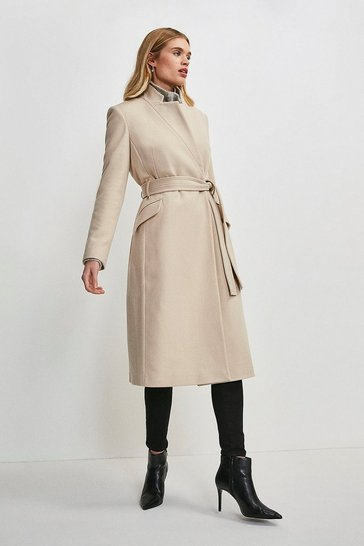 Blush Investment Notch Neck Wool Blend Coat