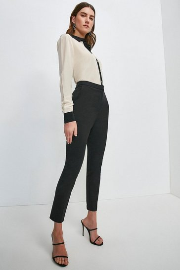 Black Essential Cotton Sateen Trouser