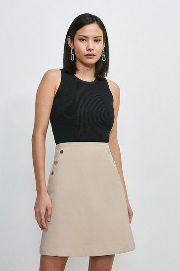 Stone Essential Techno Cotton Skirt