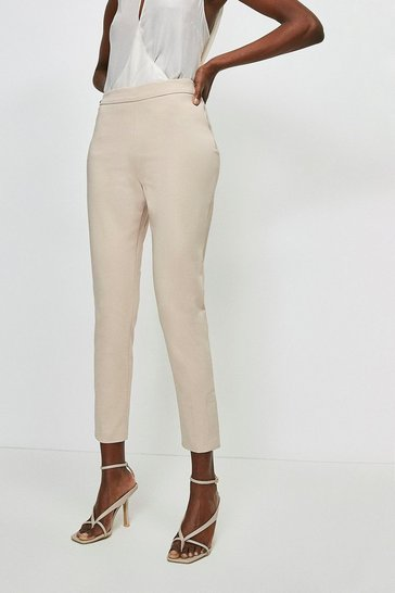 Stone Essential Cotton Sateen Crop Trouser
